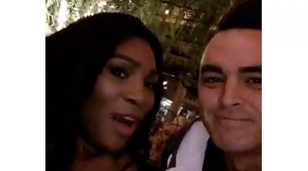 Rickie Fowler and tennis great Serena Williams attended a friend's party in L.A.