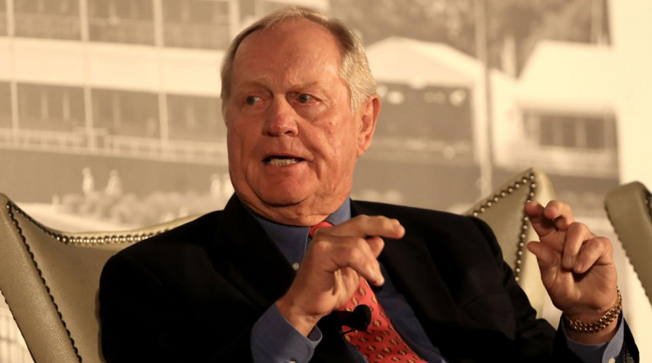Jack Nicklaus addressed the 2016 HSBC Golf Business Forum on Tuesday.