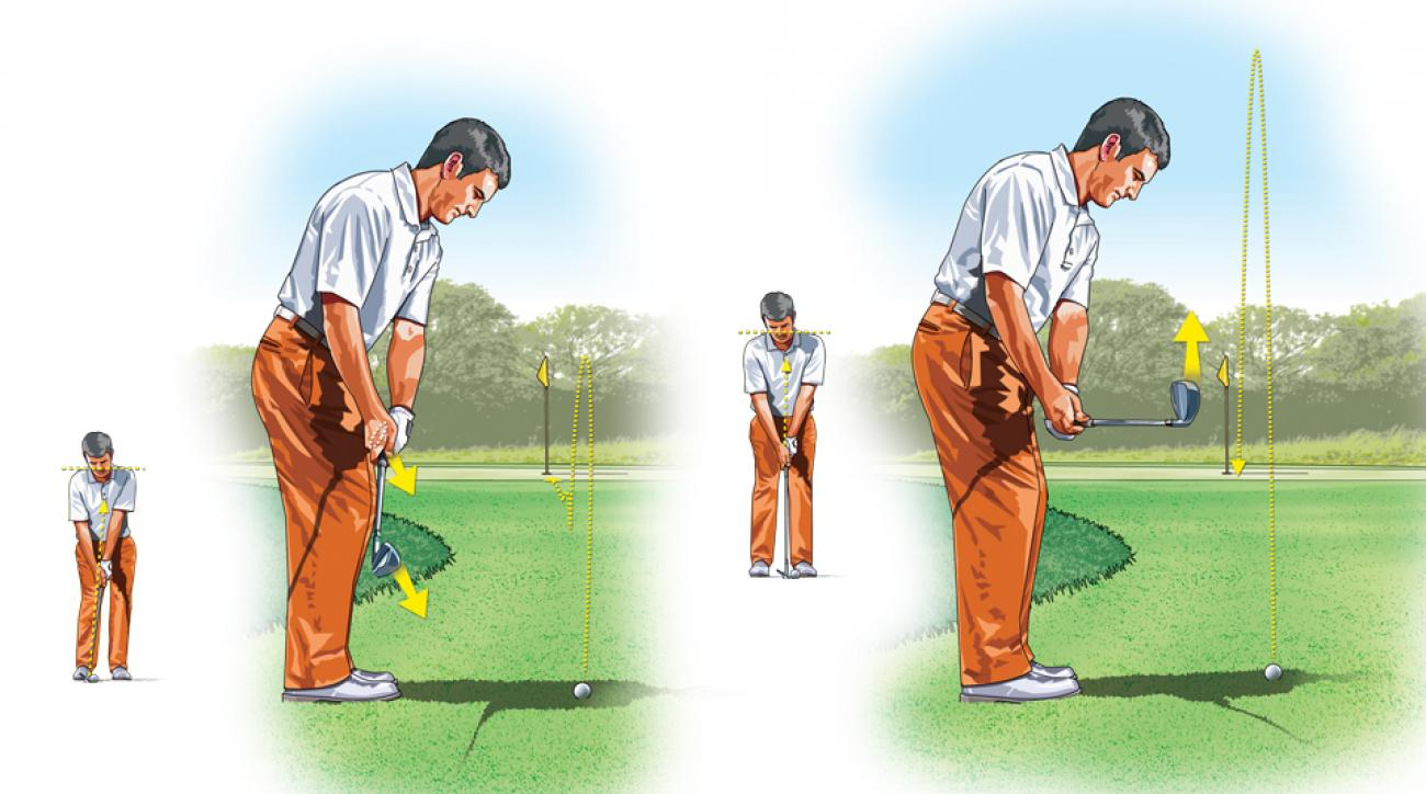 One key to getting close is varying your pitch height via the toe of your wedge.
