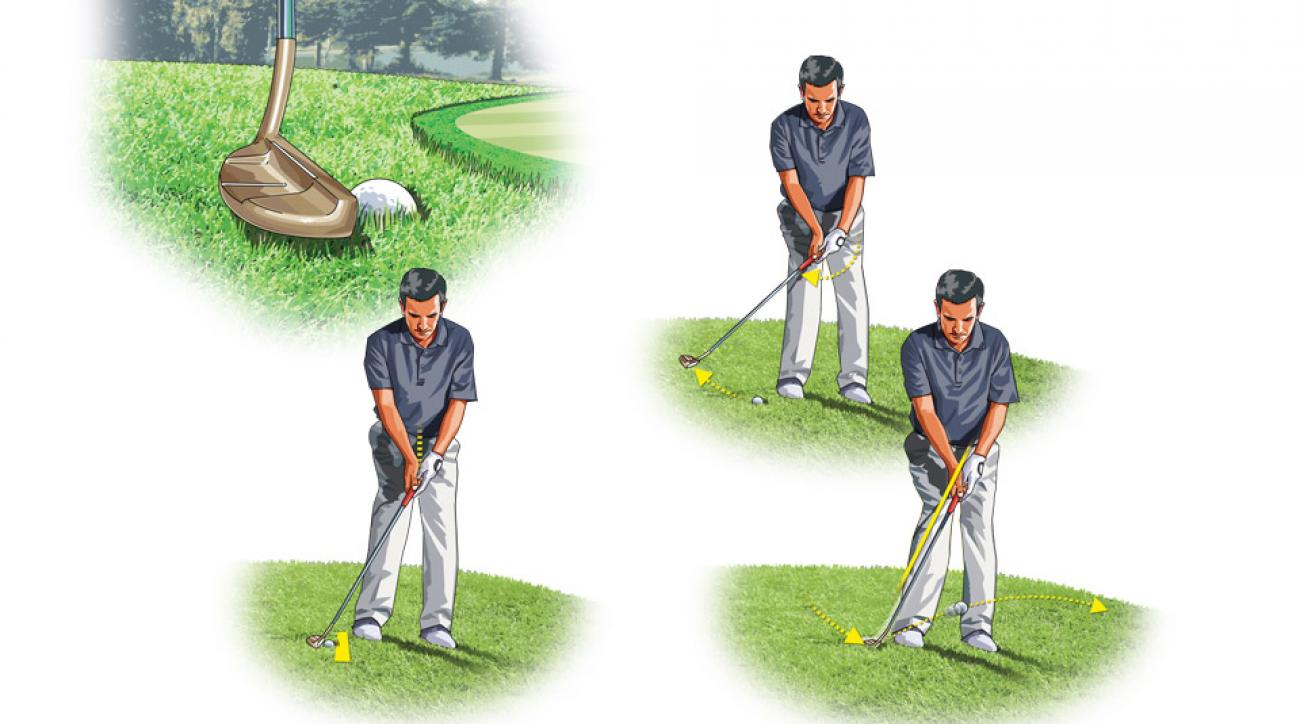 See below to find out how you can get out of trouble from the edge of the green.