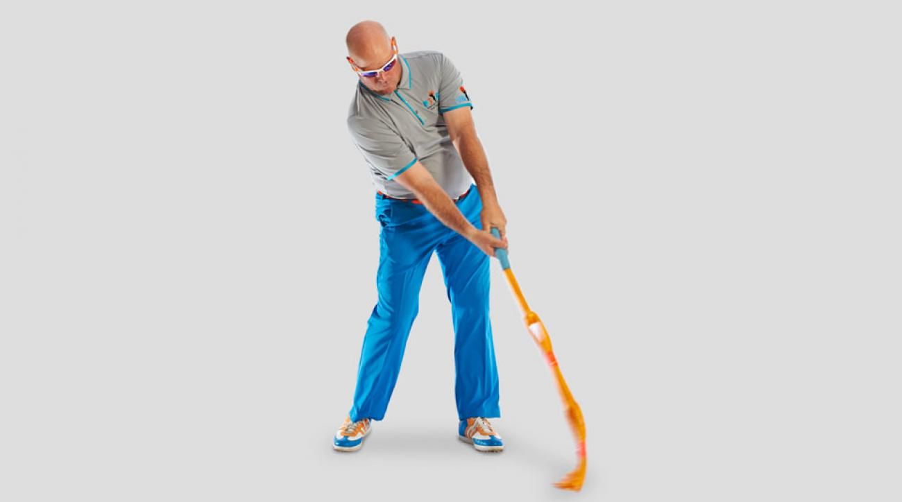 Train with a rope to quickly boost your swing speed.