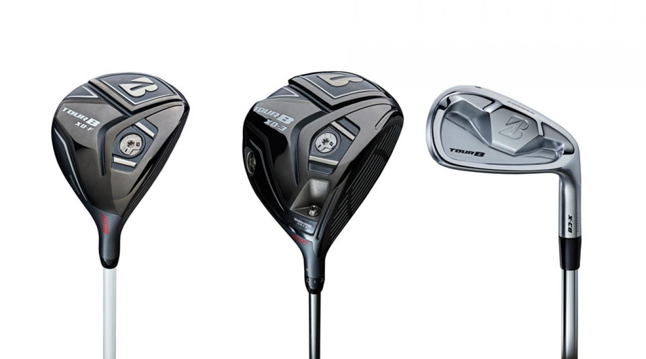 From left to right: Bridgestone Tour B XD-F fairway wood; Bridgestone Tour B XD-3 driver; Bridgestone Tour B X-CB iron.