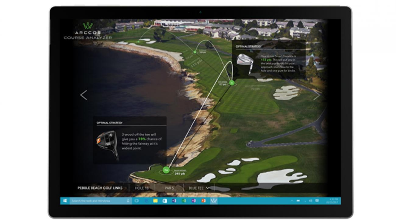 Arccos Golf and Microsoft have teamed up to deliver Arccos Course Analyzer, what they're calling the 'world's smartest caddie.'