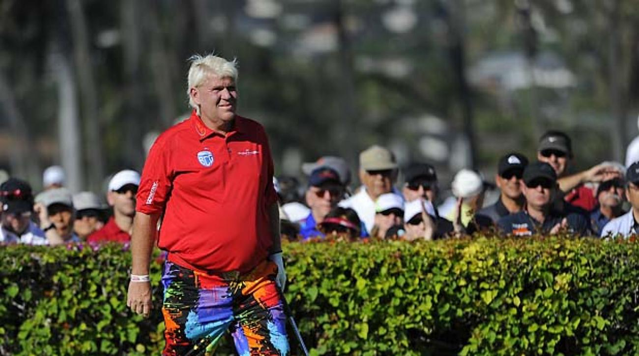 HONOLULU, HI - JANUARY 11:  John Daly plays from the 10th tee during the third round of the Sony Open in Hawaii at Waialae Country Club on January 11, 2014 in Honolulu, Hawaii. (Photo by Chris Condon/PGA TOUR)