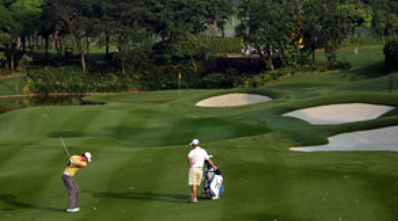 The 16th hole at the Kuala Lumpur Golf and Country Club.