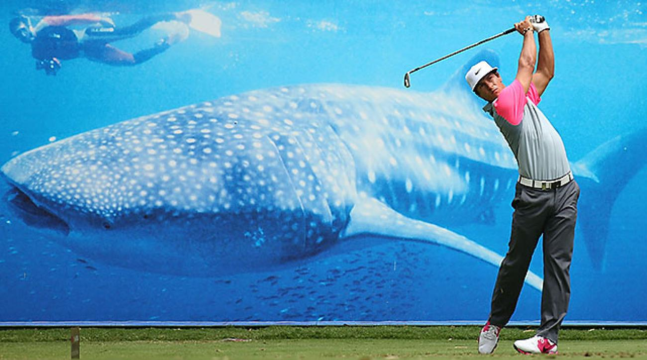 Thorbjorn Olesen leads entering Sunday at the Perth International after a 5-under round of 67.
