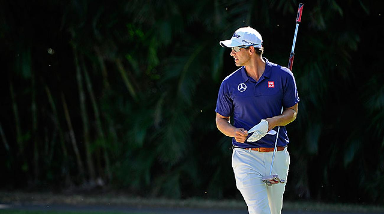 After a pair of Top 10 finishes in Hawaii, Adam Scott is shutting it down until the Honda Classic.