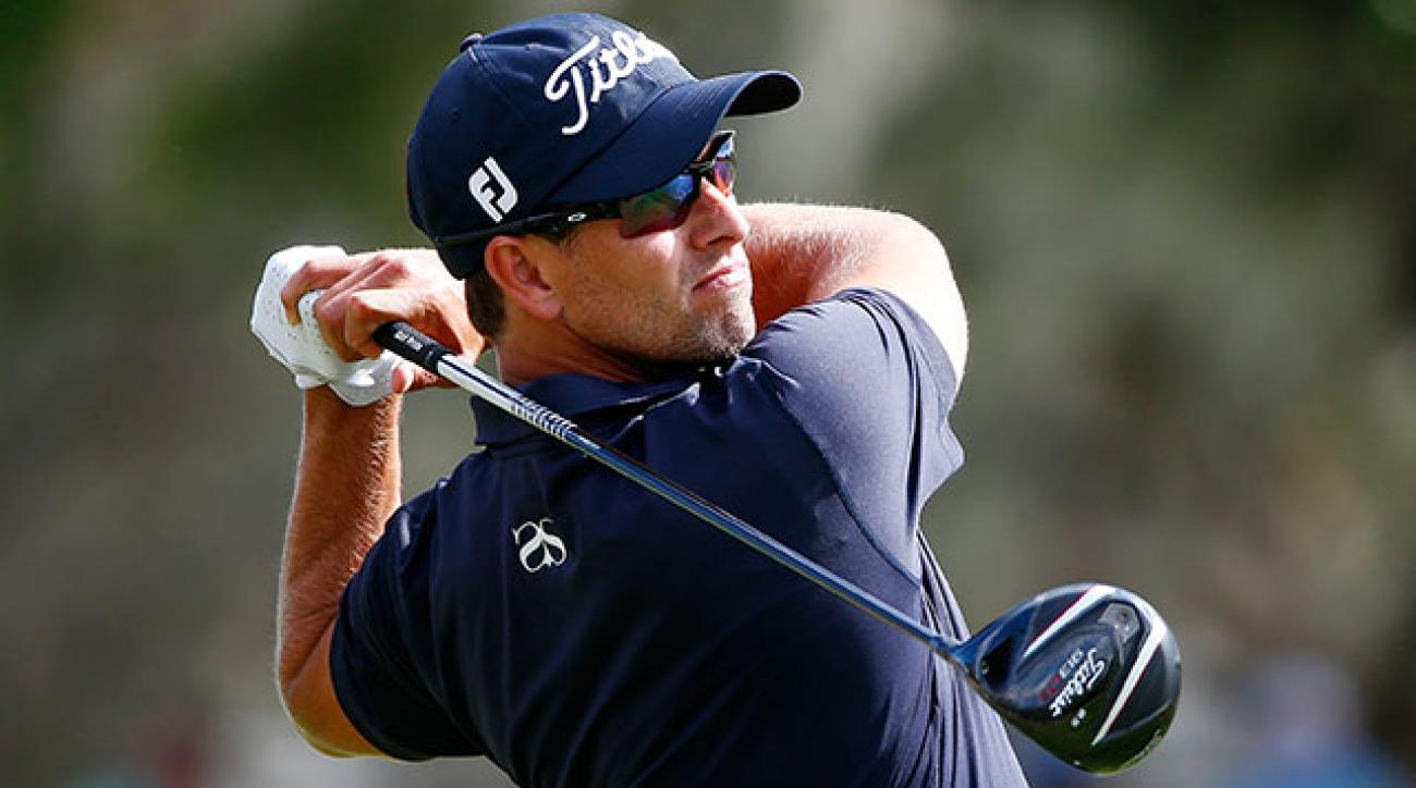 Defending champion Adam Scott has three top 10 finishes in five Tour events this season.