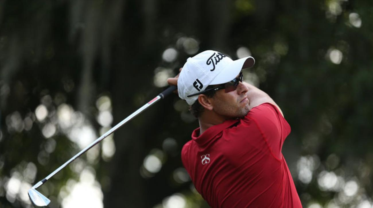 Adam Scott plays the 2014 Players Championship.