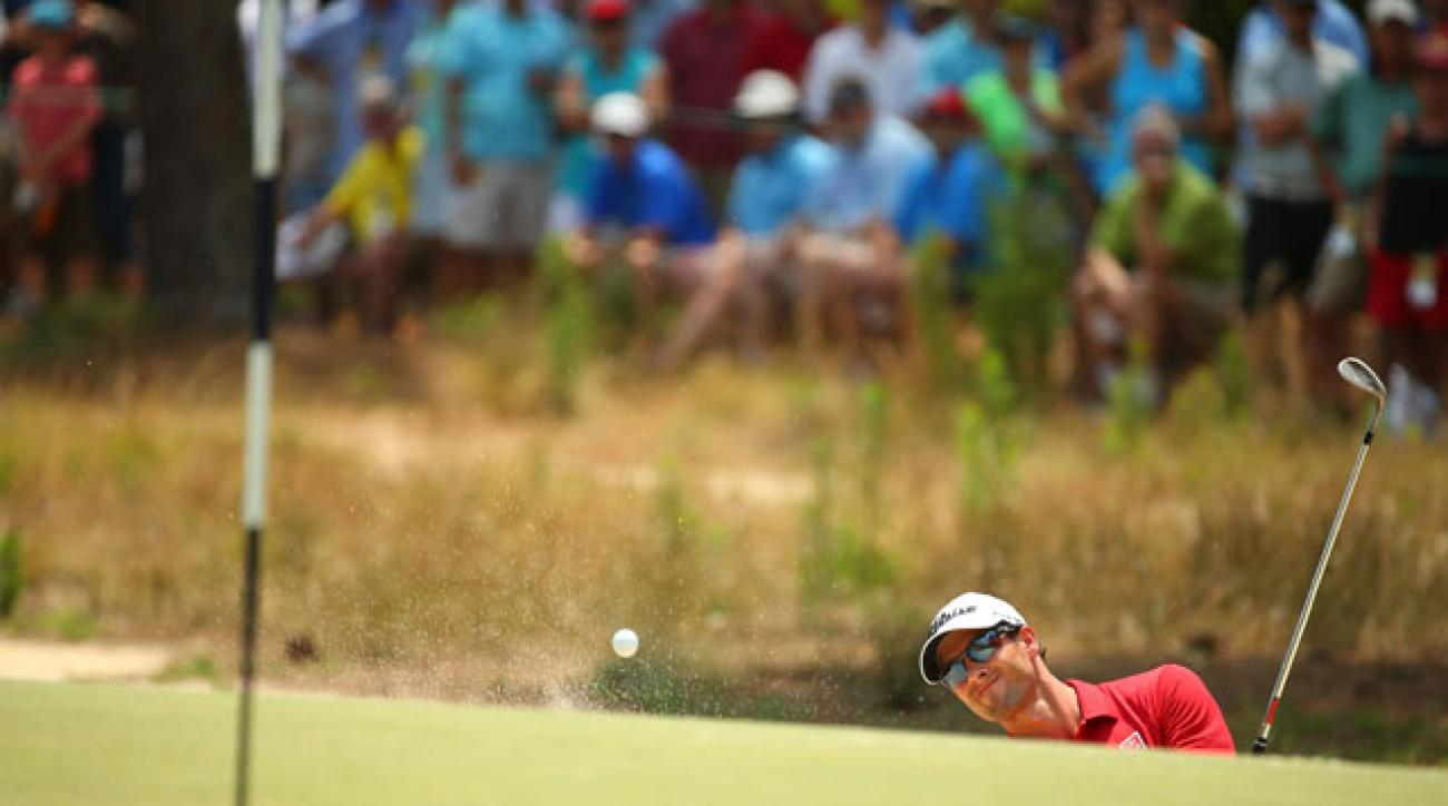 Pinehurst's raised greens posed problems for Adam Scott and his colleagues.