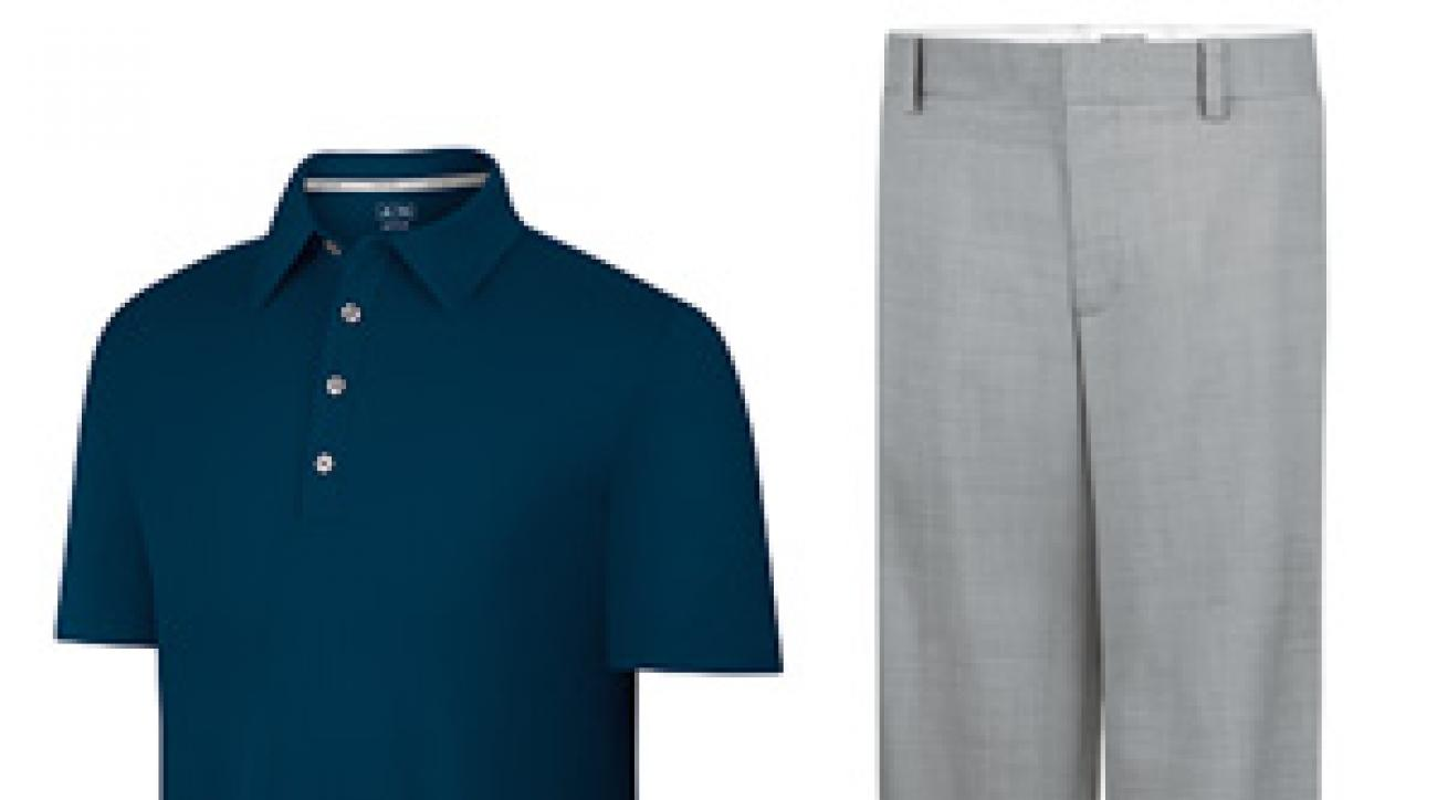 AdiPURE sanded golf shirt and wool trousers