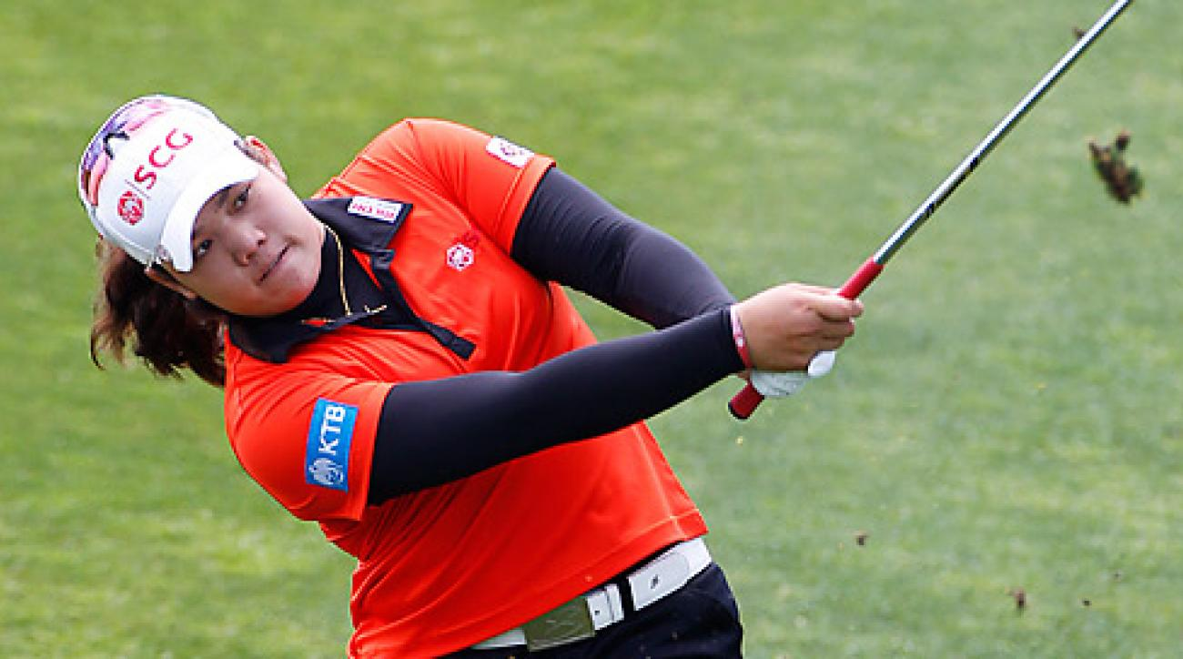 Ariya Jutanugarn shot a 64 to take a two-shot lead.