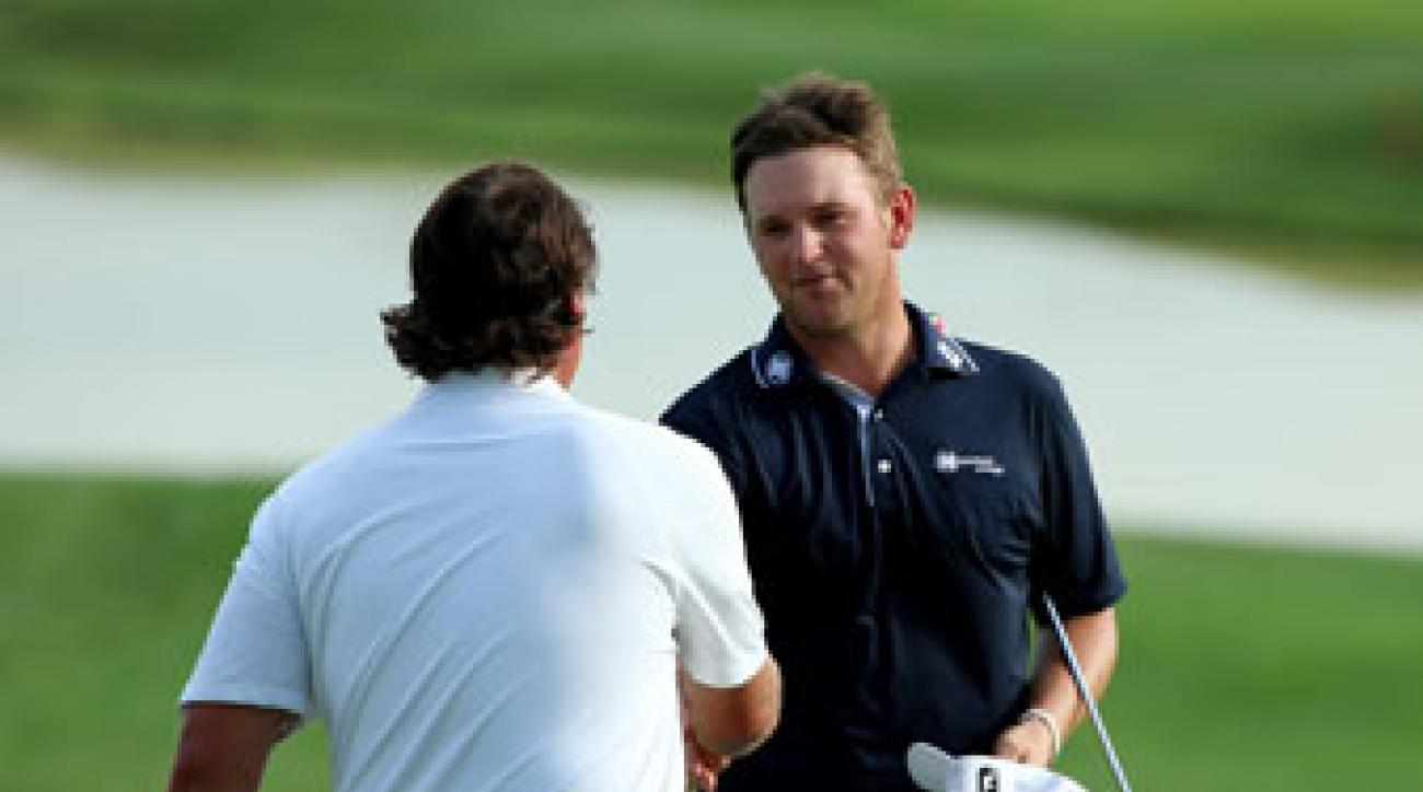 Bernd Wiesberger said he was relaxed playing with Phil Mickelson, one of his boyhood idols.