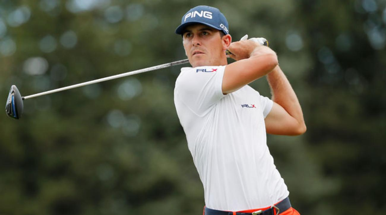 Billy Horschel tees off on the third hole during the final round of the BMW Championship.