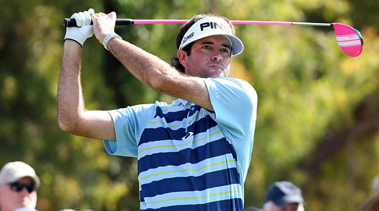 Watson shot consecutive rounds of 64 on the weekend to take over the top spot on the leaderboard.