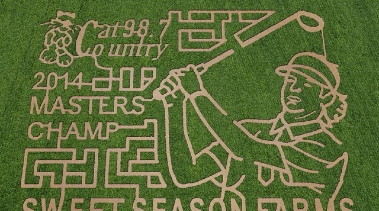 The Bubba Watson corn maze in Berrydale, Fla.