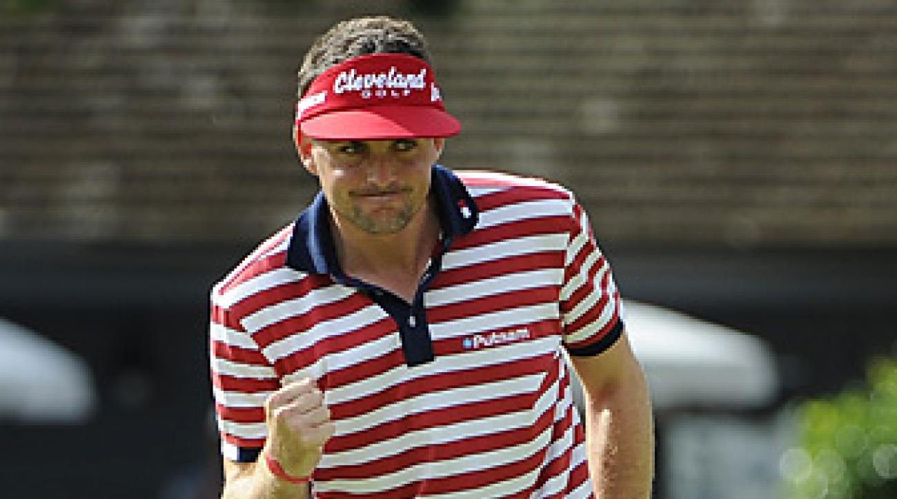Keegan Bradley won the Bridgestone by one shot after Jim Furyk doubled the 72nd hole.