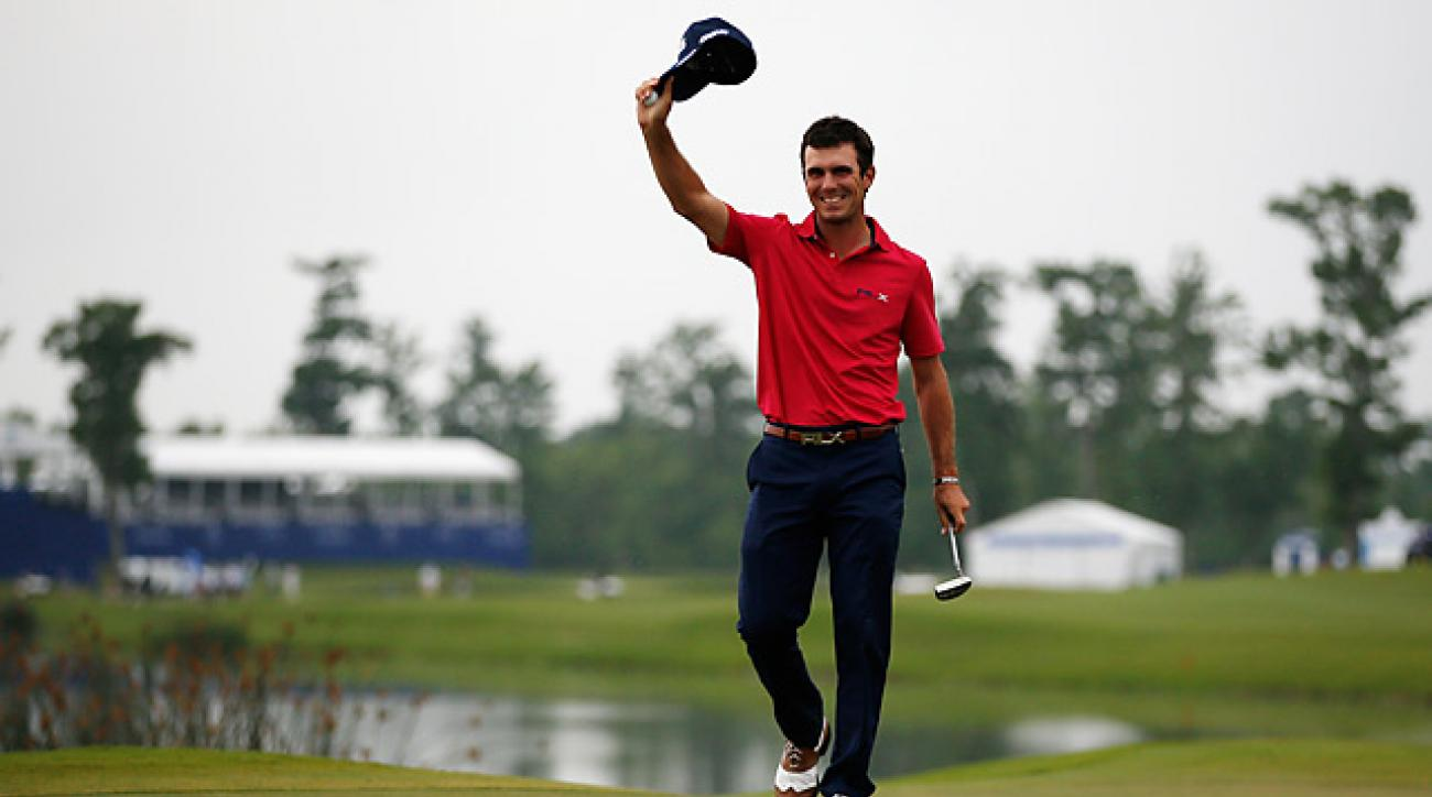 Billy Horschel buried a 27-footer to birdie to win his first career playoff event.