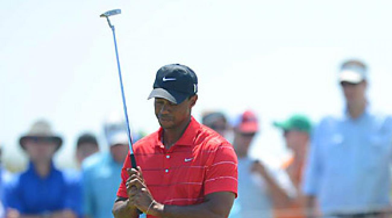 Same as he did at this year's three other majors, Woods failed to break par on Saturday or Sunday at Kiawah Island, where he finished 11th.