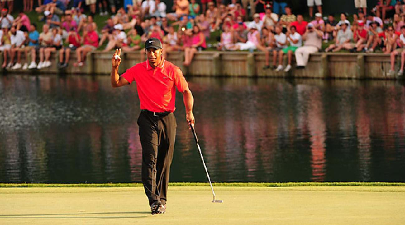 Tiger Woods shot a final-round 70 to win the Players by two shots. It was Woods' fourth title of the 2013 season.