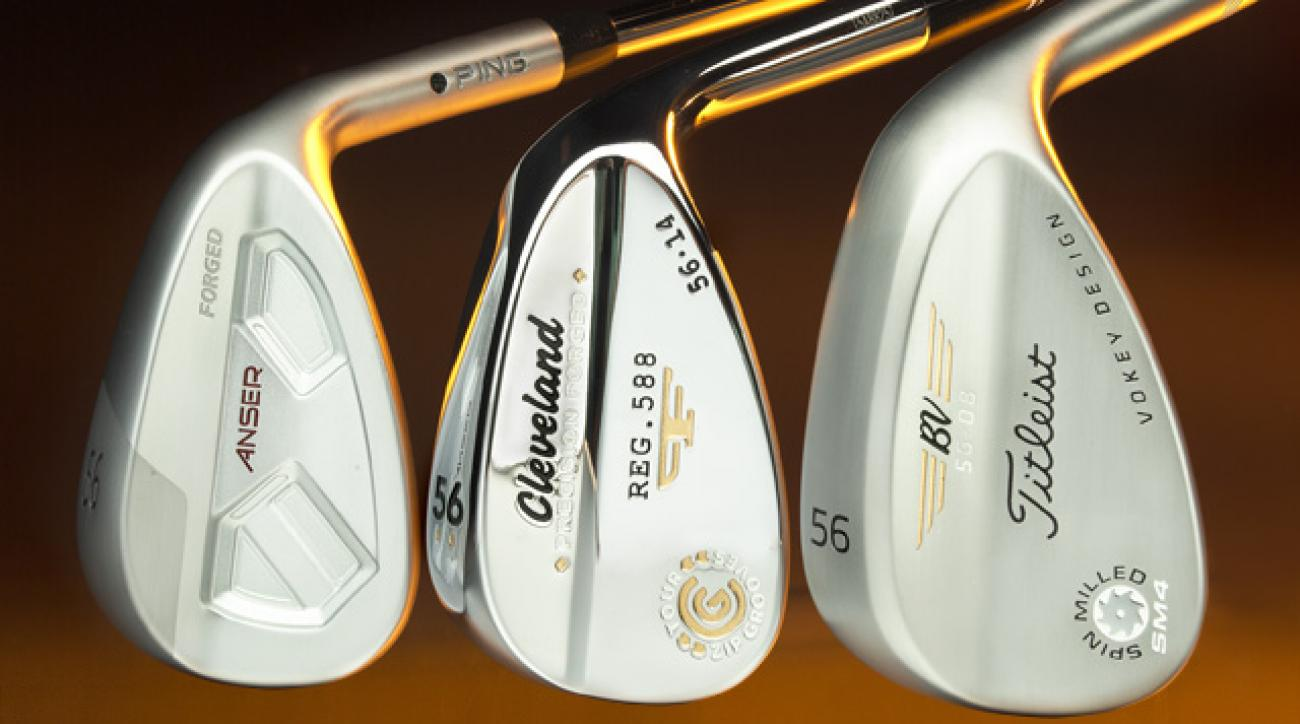 Ping Anser Forged (left), Cleveland Forged 588, Titleist Vokey SM4.