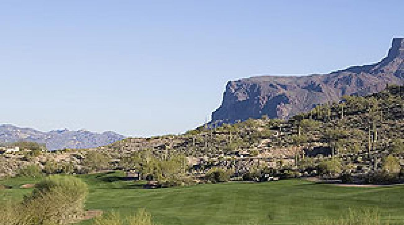 The 4th hole at Gold Canyon Golf Club's Dinosaur Mountain Course