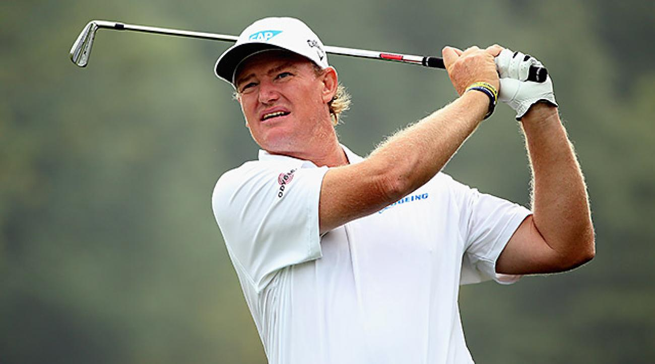 The 44-year-old Ernie Els won his second Claret Jug in 2012, a decade after his first.