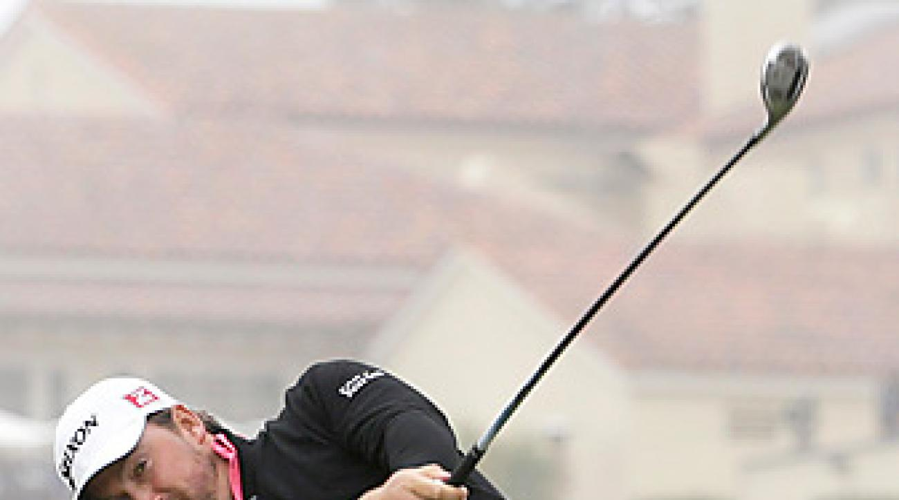 Graeme McDowell began the day tied for the lead with Jim Furyk.