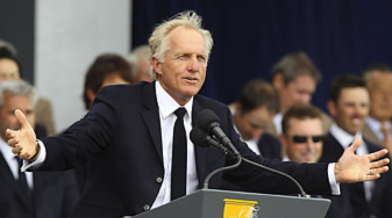 Greg Norman would like captains to be allowed to make four picks for their team rosters, which would match the current Ryder Cup rule.