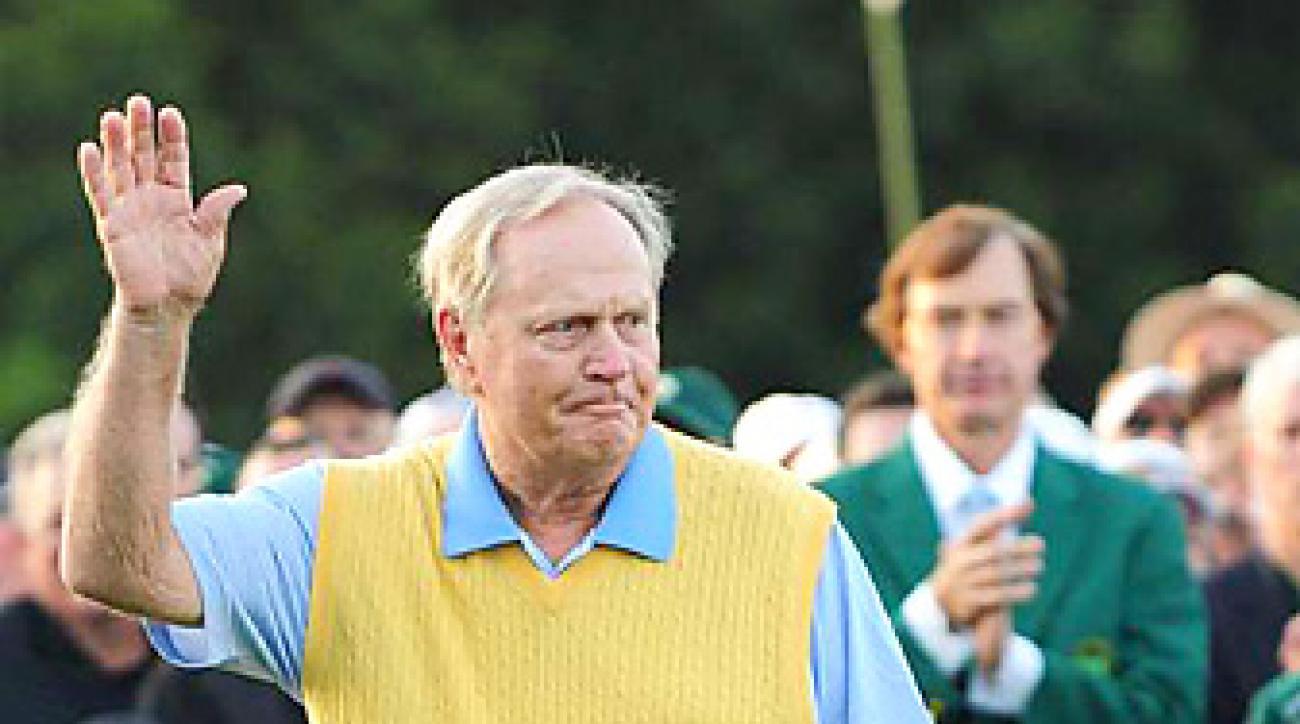 Nicklaus was an honorary starter at the 2012 Masters.
