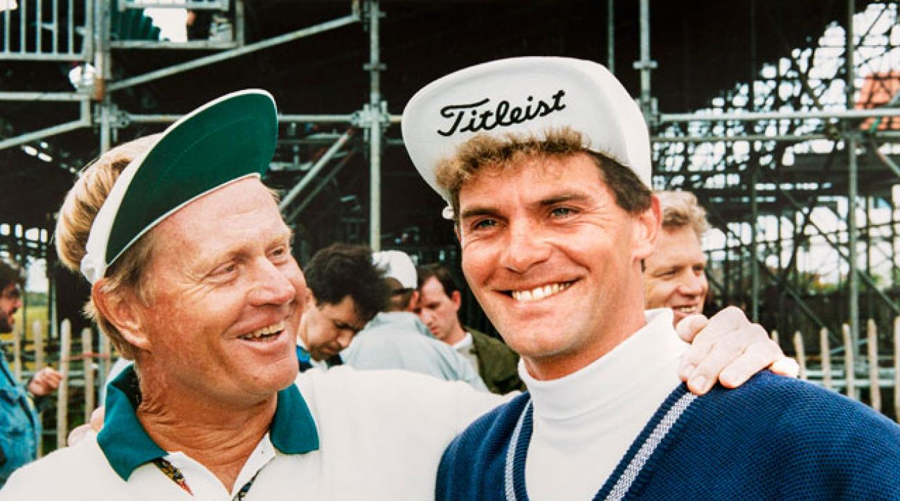 Jack Nicklaus and Jesper Parnevik enjoyed each other at Turnberry in 1994.