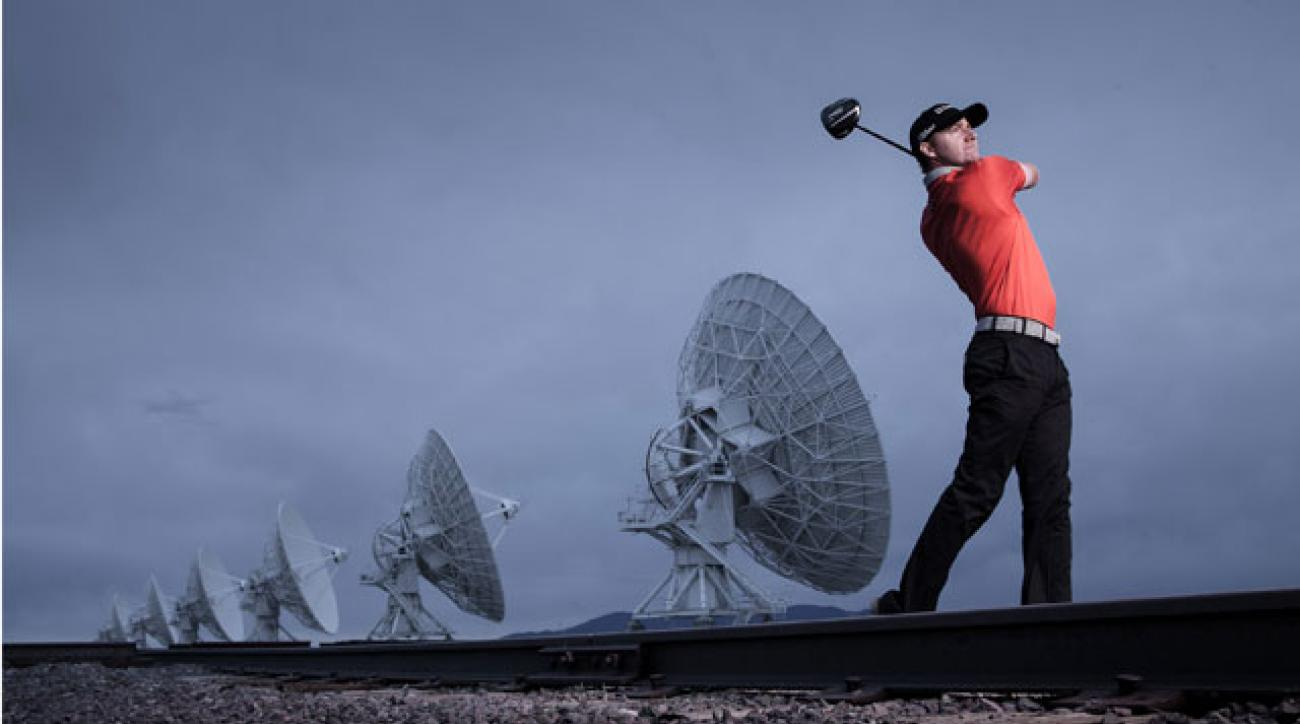 Jimmy Walker at the Very Large Array radio telescope facility in New Mexico.