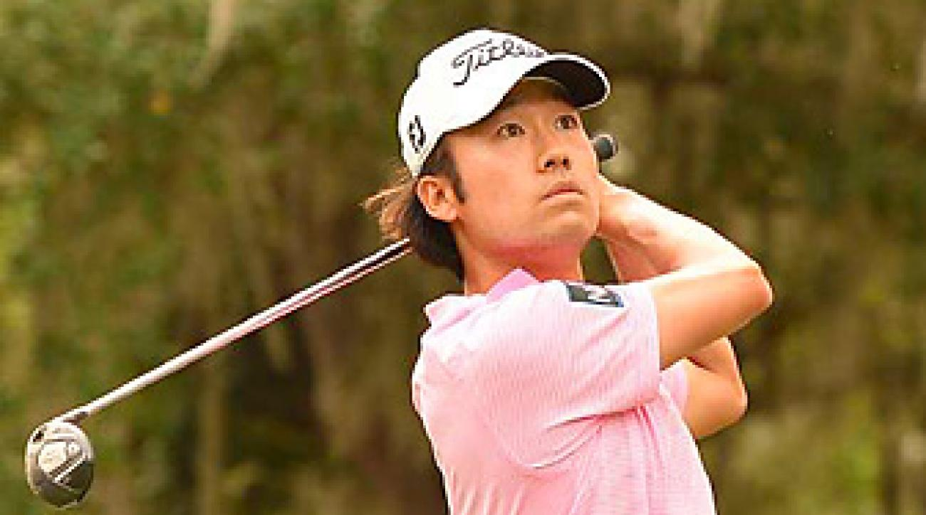 Kevin Na shot a 76 on Sunday at the Players and finished tied for seventh.
