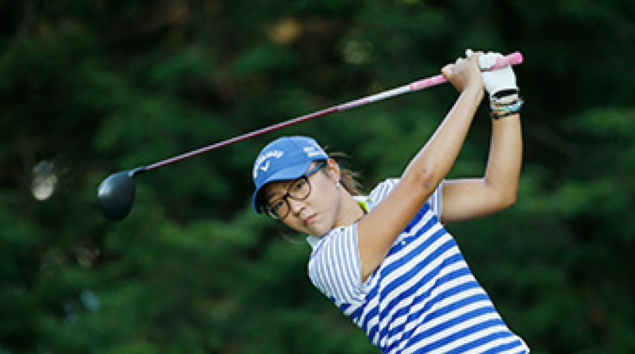 Lydia Ko at the Wegmans LPGA Championship at Monroe Golf Club on August 17, 2014 in Pittsford, New York.