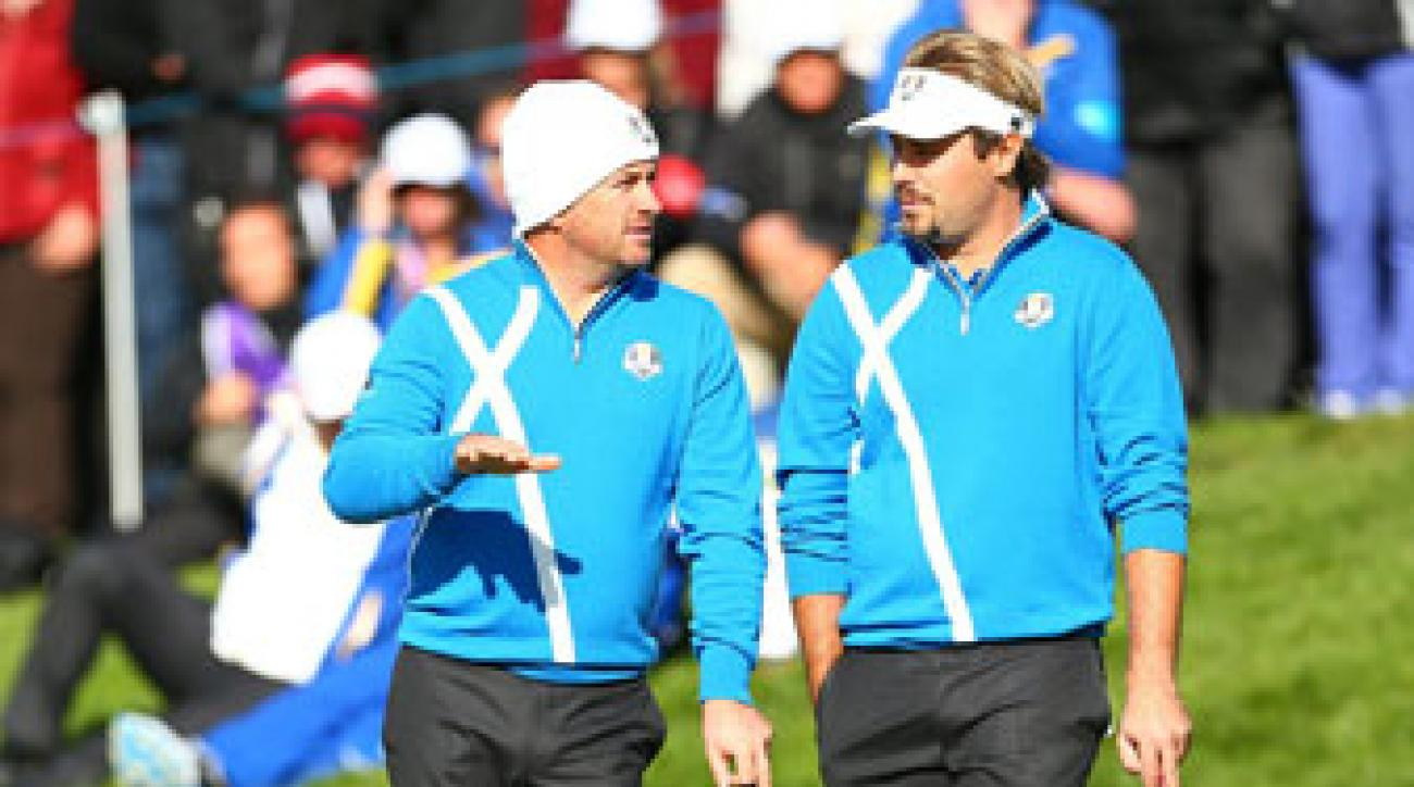 Graeme McDowell and Victor Dubuisson were a winning combination at Gleneagles.