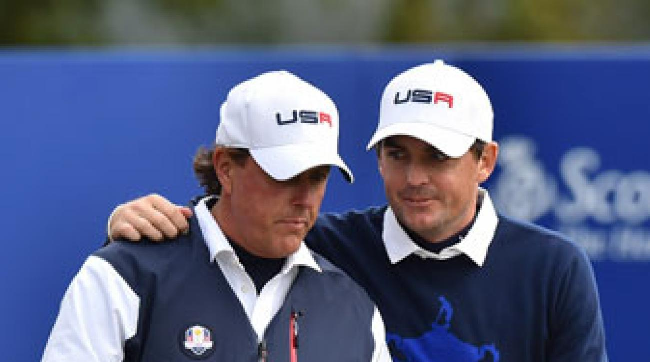 Phil Mickelson and Keegan Bradley won their first match and lost their second on Friday.