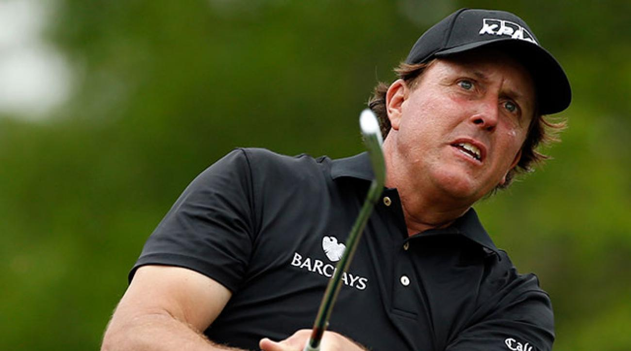 Phil Mickelson withdrew from last week's Valero Texas Open with a pulled muscle.