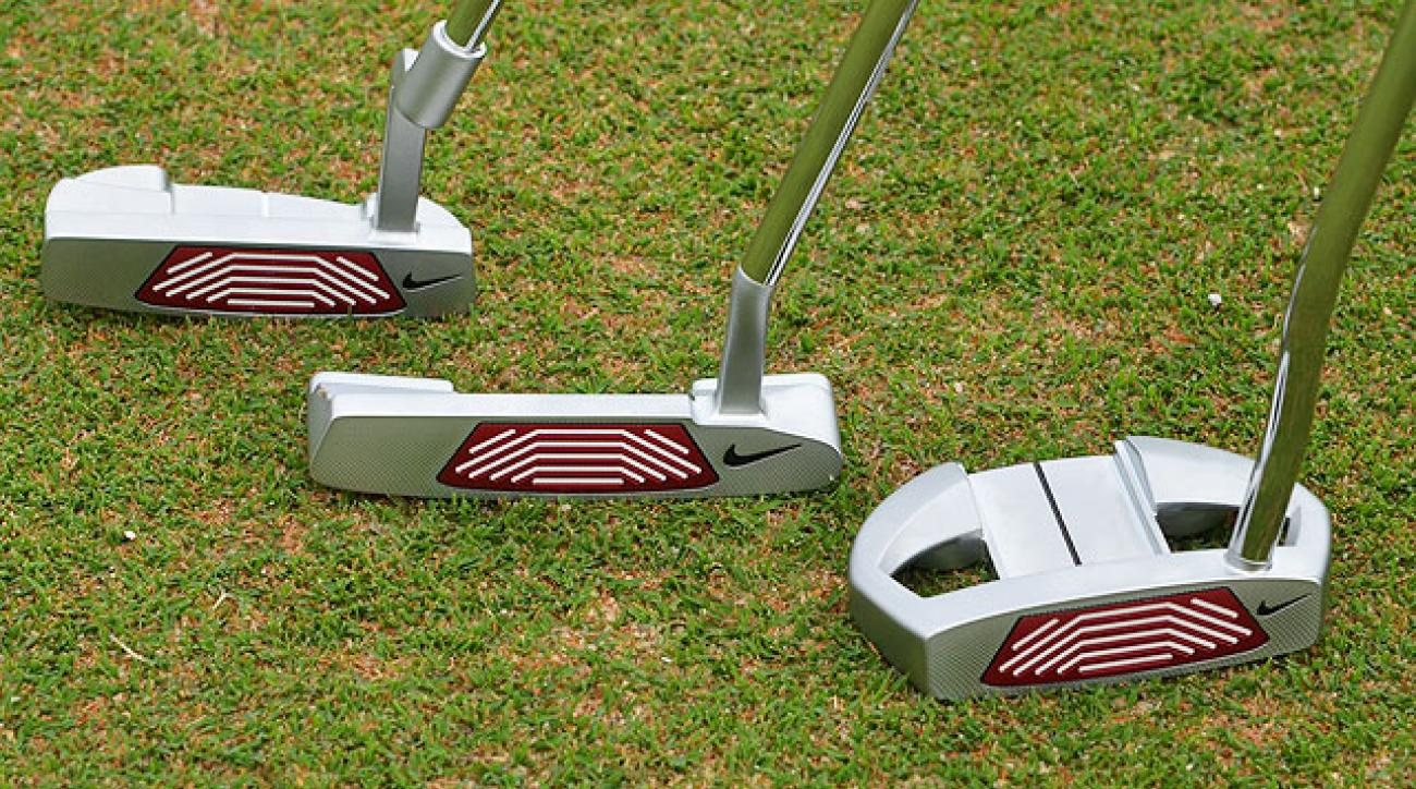 From the left, Nike Method Core Weighted MC03, MC01, MC11 putters.