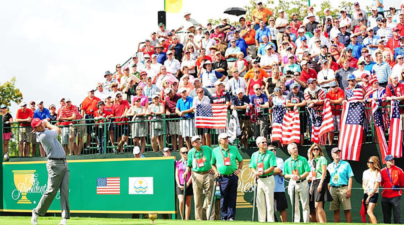 Matt Kuchar teed off in front of a raucous crowd Friday afternoon.