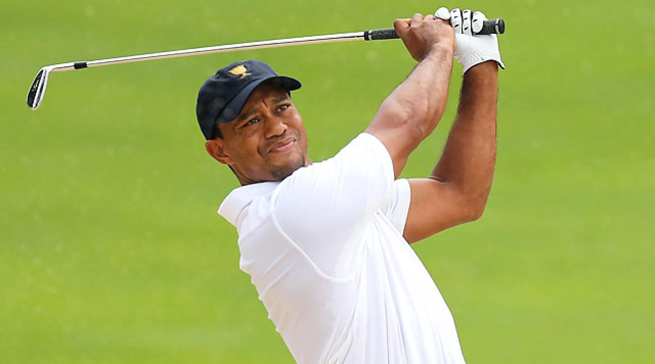 Tiger Woods last competed at the Presidents Cup, where he helped the U.S. to a three-point victory.
