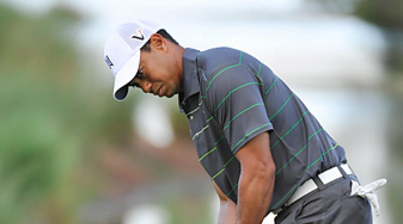 Tiger Woods has spent extra time on the greens after struggling with his stroke so far in 2012.