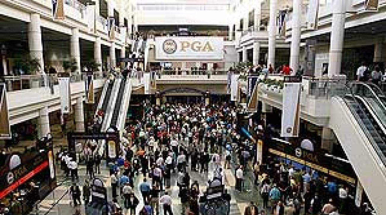 Plenty of people attended the PGA Show's opening day, but there are fewer vendors this season.