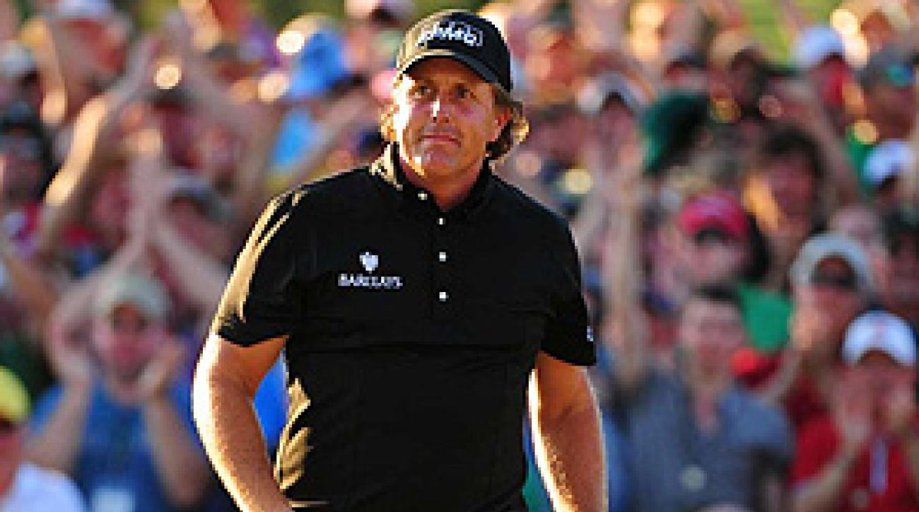 Phil Mickelson Sunday at Augusta National