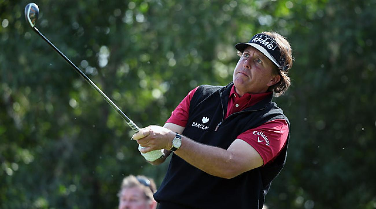 After barely making the cut, Mickelson turned in the best round of the day on Saturday.