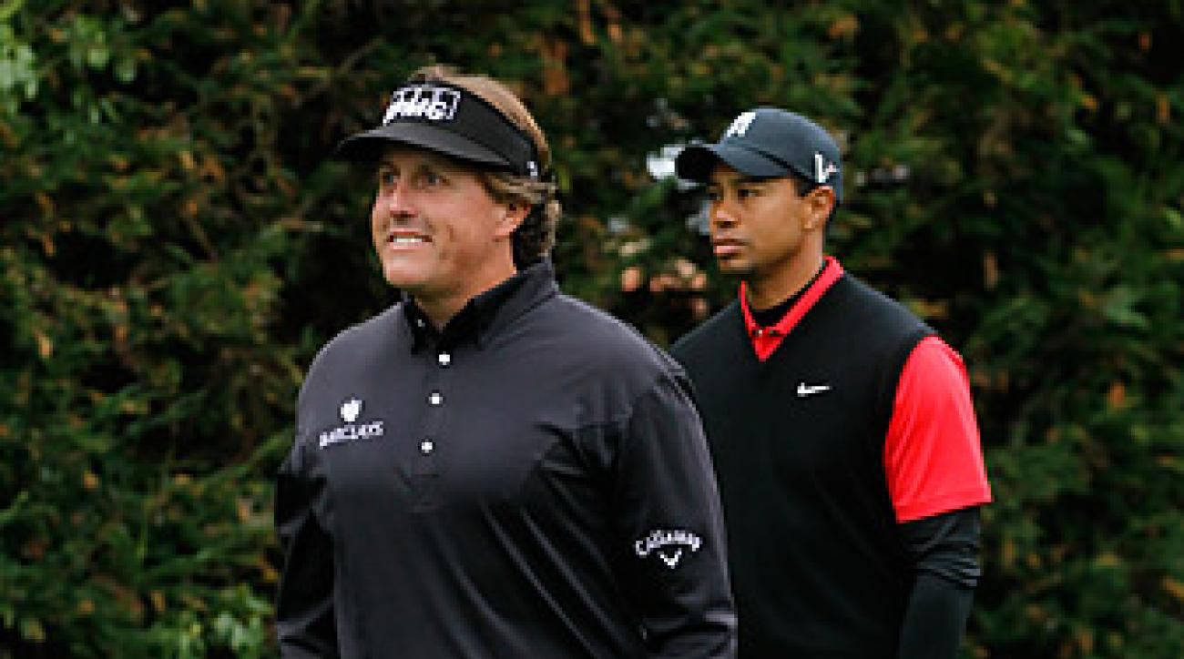 Phil Mickelson thumped Tiger Woods head-to-head in the final round at Pebble Beach last year.