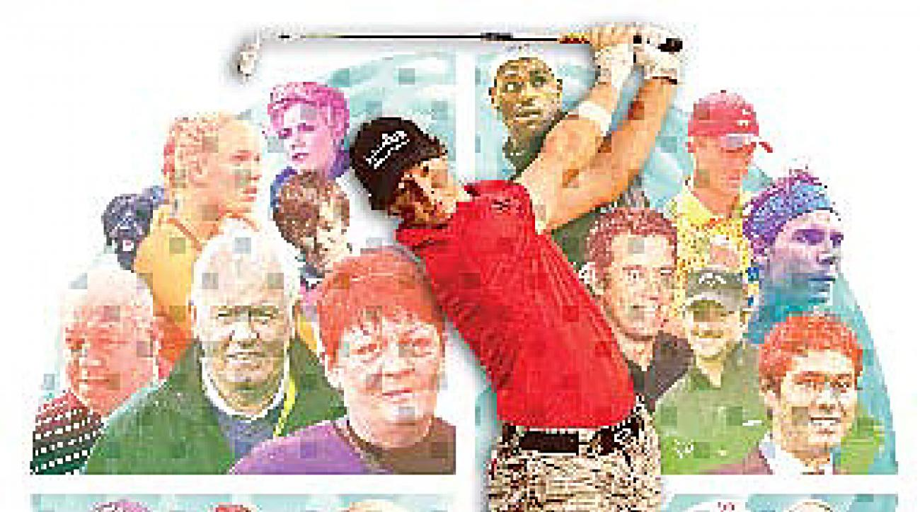 McIlroy is surrounded by an expanding inner circle.