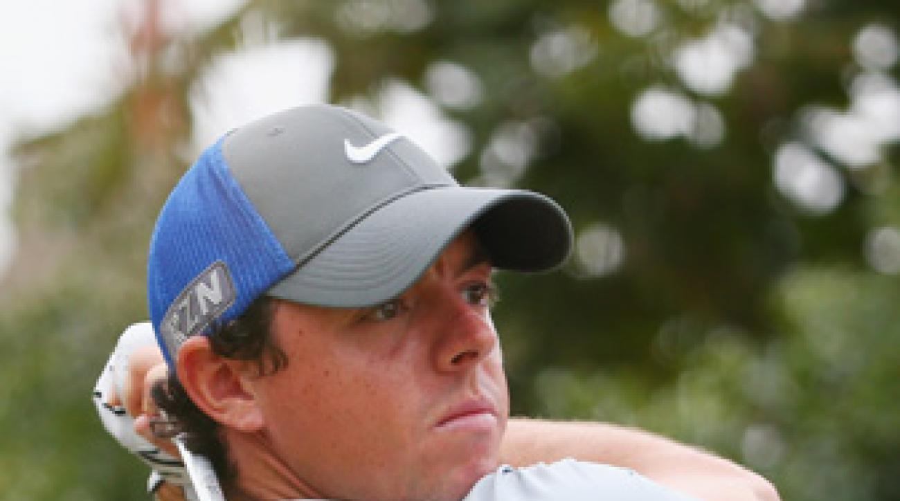 Rory McIlroy shot a 4-under 68 on Saturday to carry a six-shot lead into the final round.