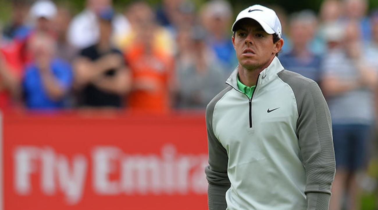 Rory McIlroy's clubs arrived late after United Airlines lost them en route from the U.S. Open at Pinehurst.