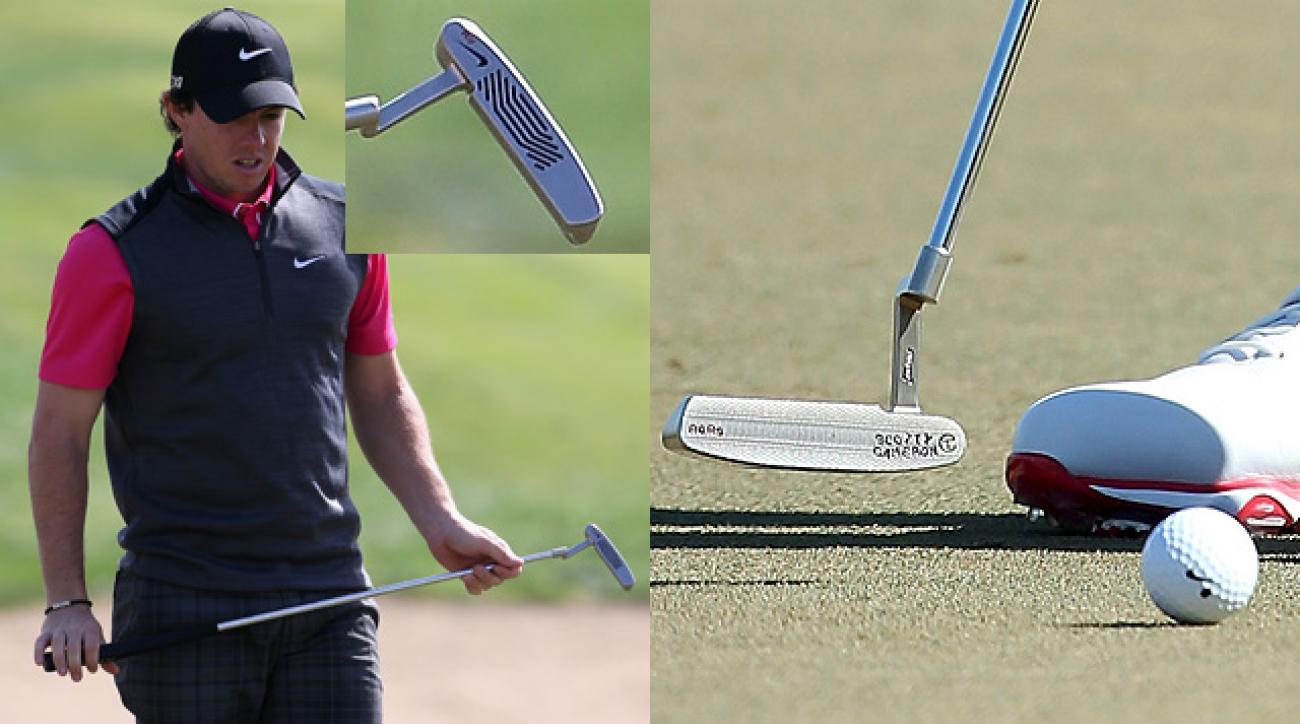 Rory McIlroy's used a Nike Method putter on Thursday but went back to his old Scotty Cameron on Friday.
