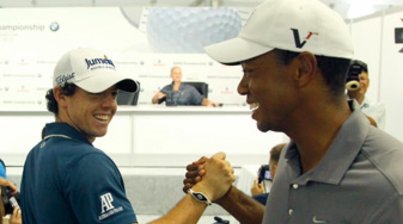 Rory McIlroy was in high spirits during his Tuesday press conference.